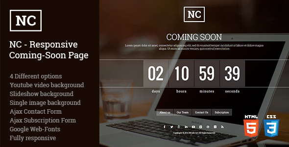 ThemeForest NC Responsive Coming-Soon Page 8936872