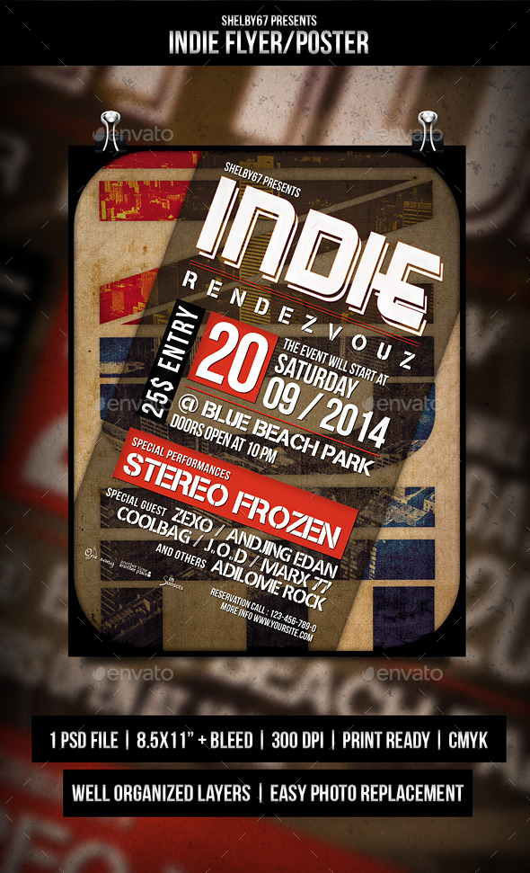 GraphicRiver Indie Flyer Poster 8936892