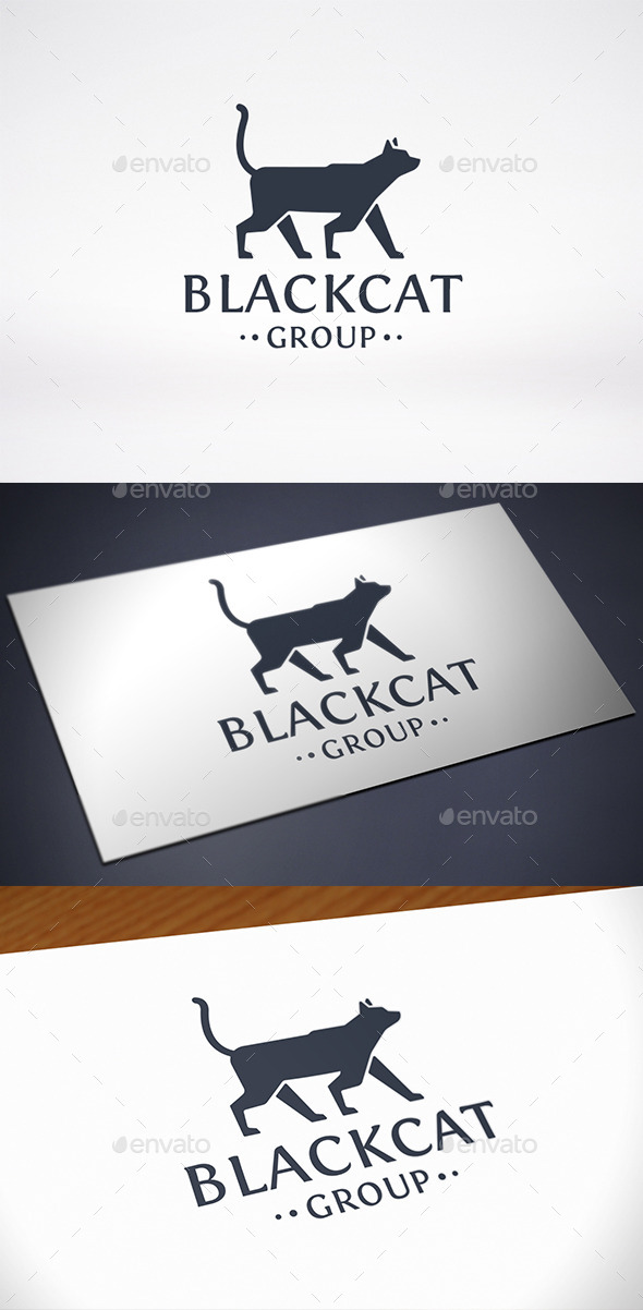 GraphicRiver Black Cat Logo Template 8936895