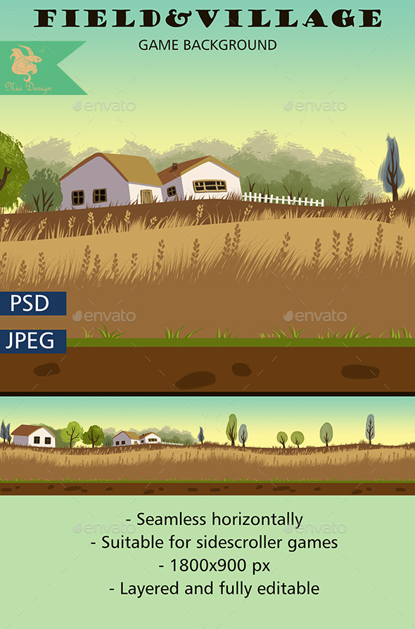 GraphicRiver Field Game Background 8886265