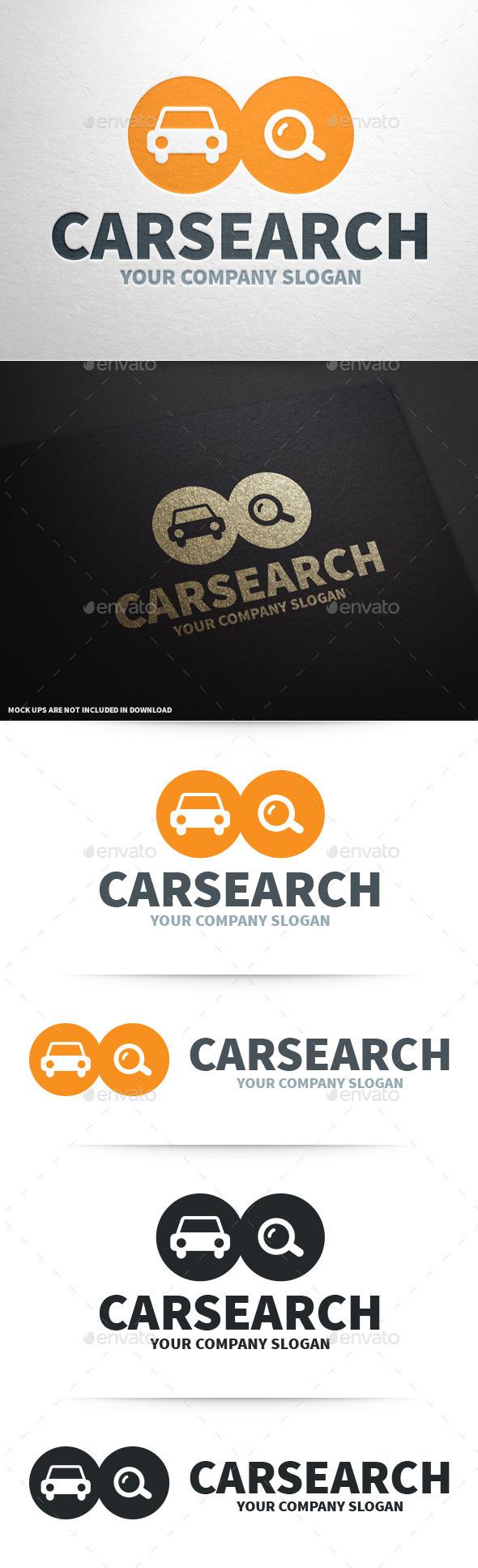 GraphicRiver Car Search Logo Template 8937159