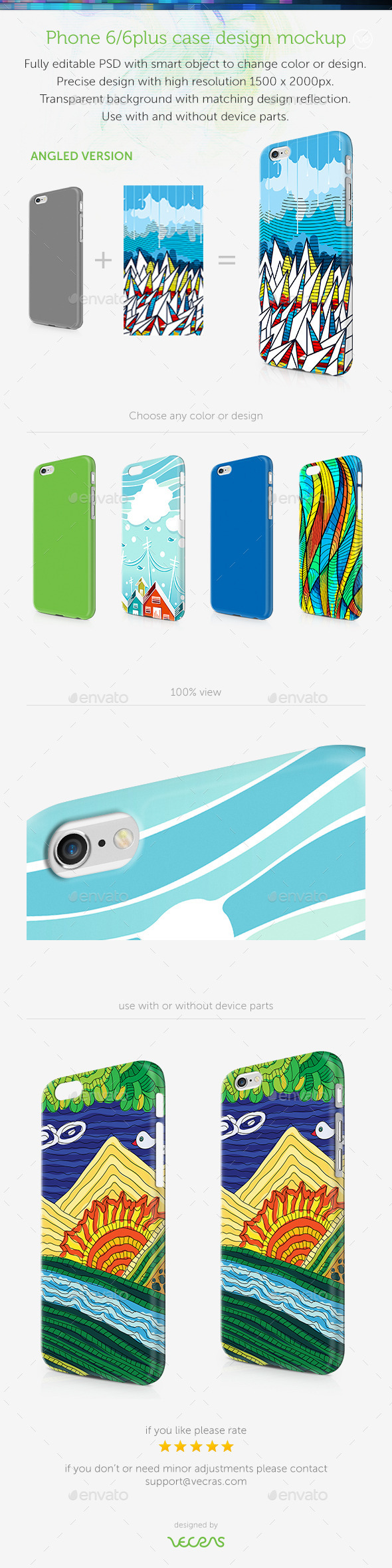 GraphicRiver Phone 6 6Plus Case Design Mockup Angled View 8937164