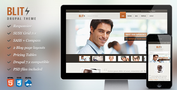 ThemeForest Blitz Responsive Multi-Purpose Drupal Theme 8433462