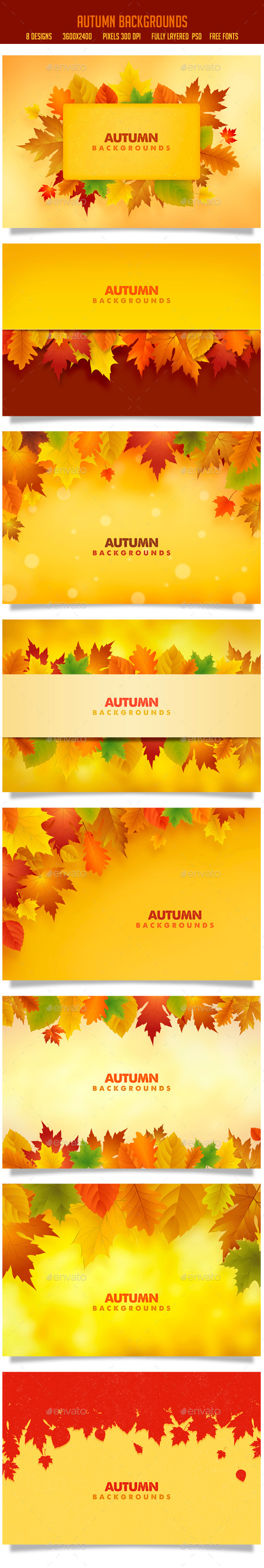 GraphicRiver Autumn Backgrounds 8931953