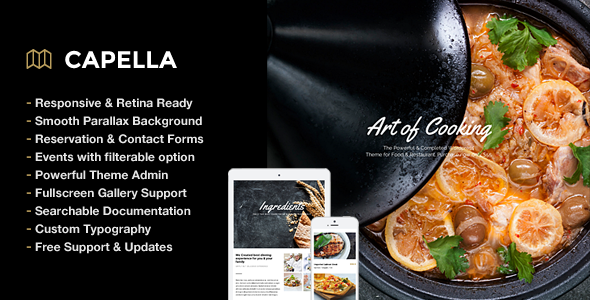 Capella Parallax Cafe and Restaurant Theme - Restaurants & Cafes Entertainment
