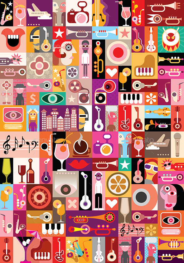 GraphicRiver Music Vector Illustration 8937449