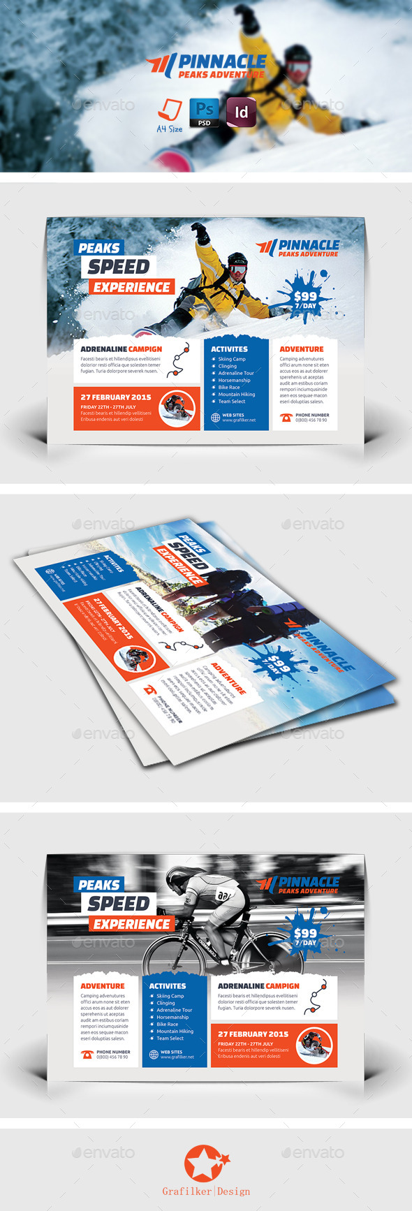 GraphicRiver Adventure Flyer Templates 8928858