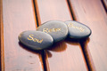 spa stones on wooden background - PhotoDune Item for Sale