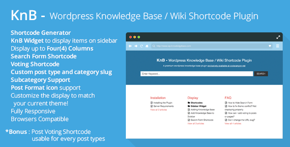 KnB Wordpress Knowledge Base Wiki Shortcode