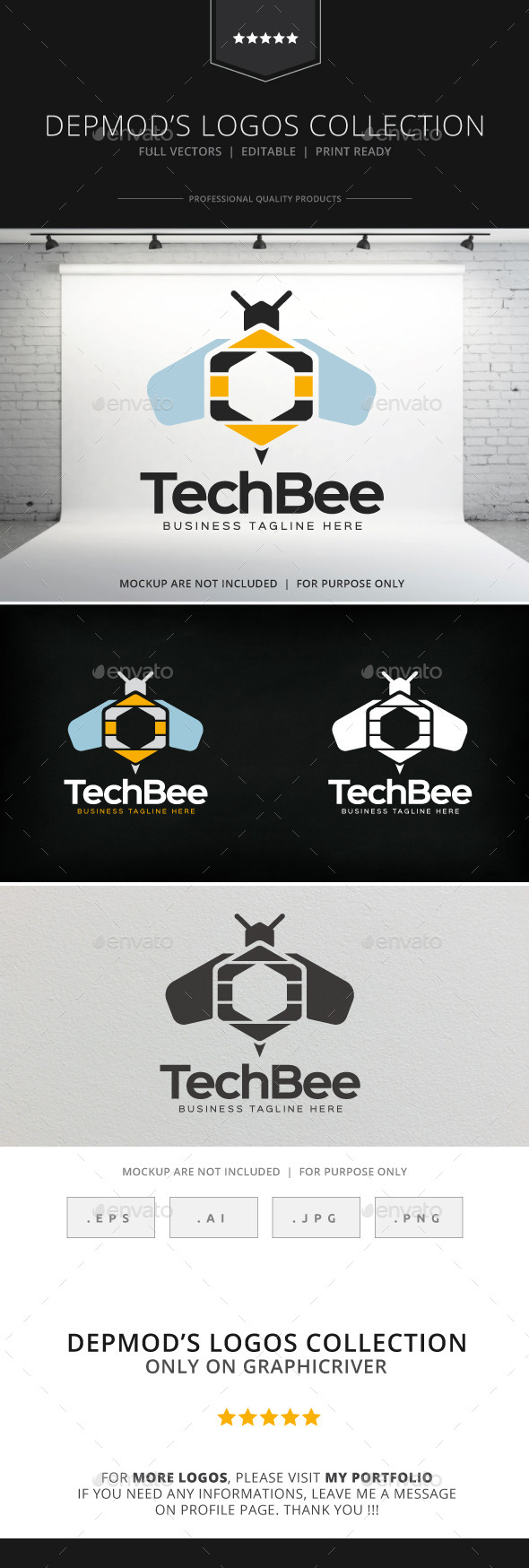 GraphicRiver Tech Bee Logo 8937612