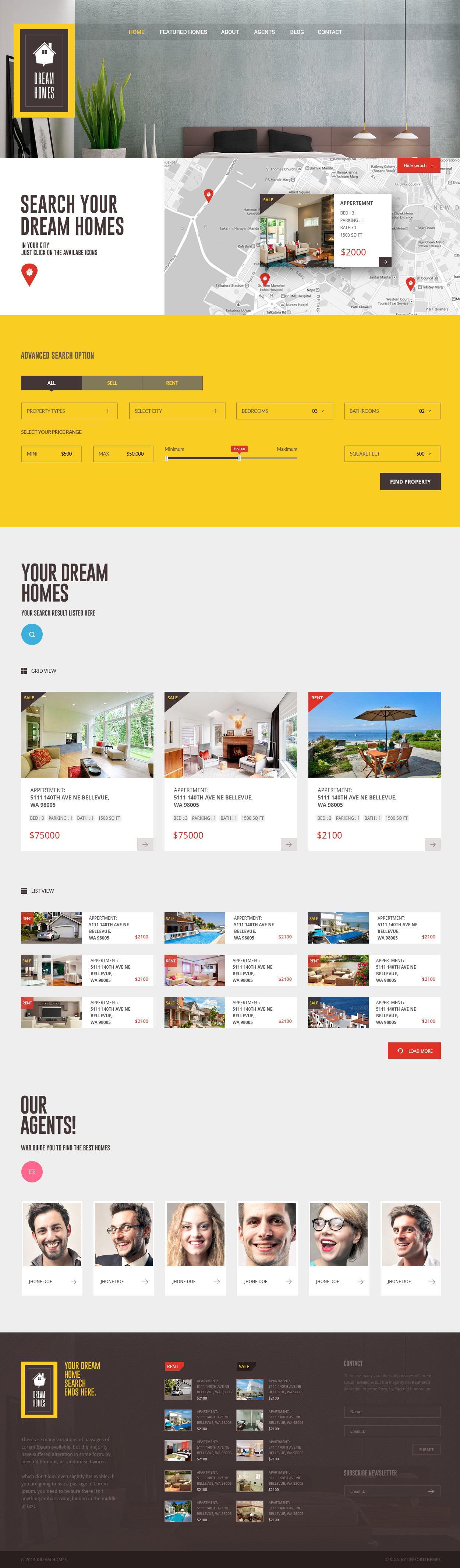 Dream Home An Awesome Idx Psd Theme By 0effortthemes