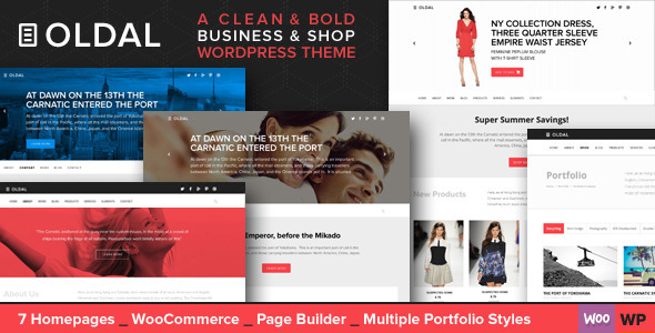 ThemeForest Oldal Multi-Purpose Business WordPress Theme 8900866