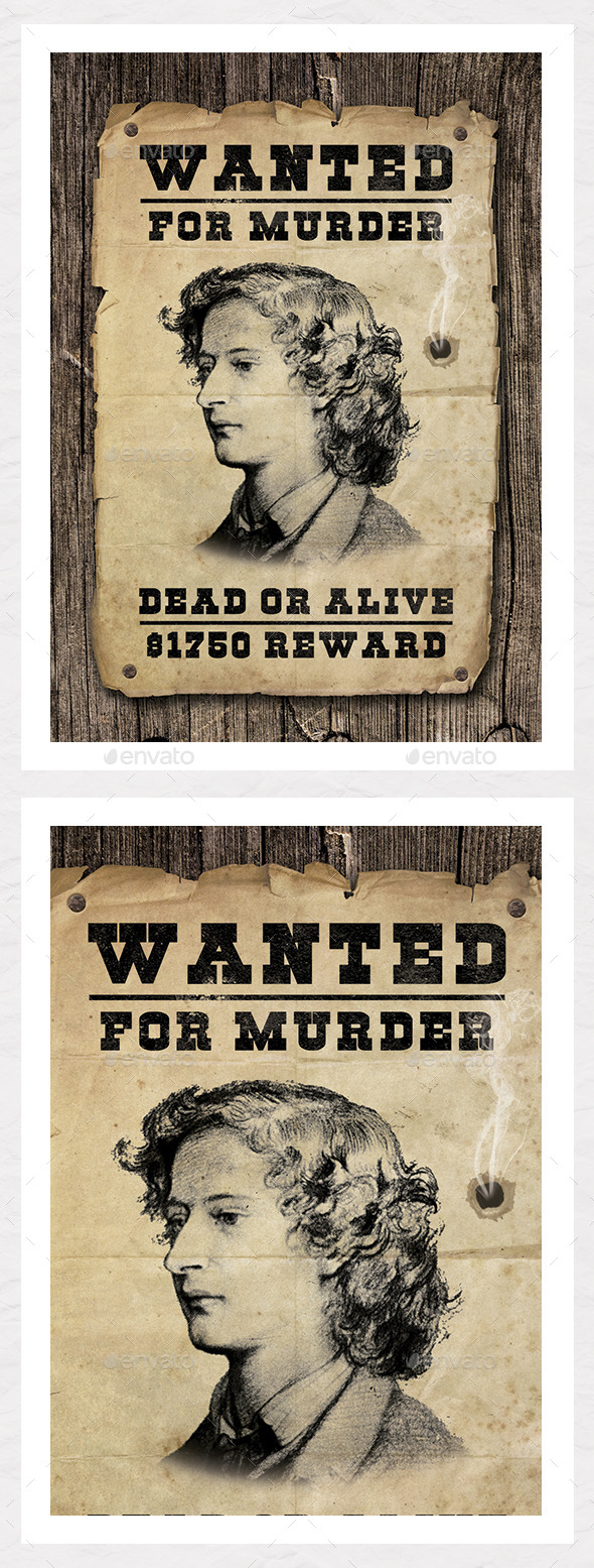 GraphicRiver Wanted Poster Graphic Create Your Own 8922750
