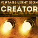 Vintage Light Bulb Sign Photoshop Creator - GraphicRiver Item for Sale