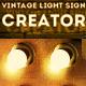 Vintage Light Bulb Sign Photoshop Creator - GraphicRiver Item for Sale
