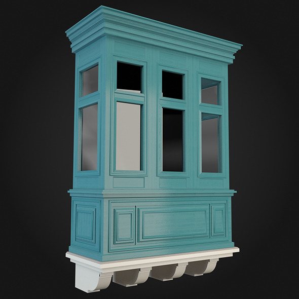 3d model 3docean balcony 017 8938063 for Balcony models