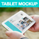8 White Galaxy Tablet Mockups at Lake - GraphicRiver Item for Sale