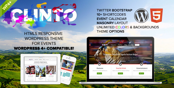 Clinto - HTML5 Responsive WordPress Theme for Events