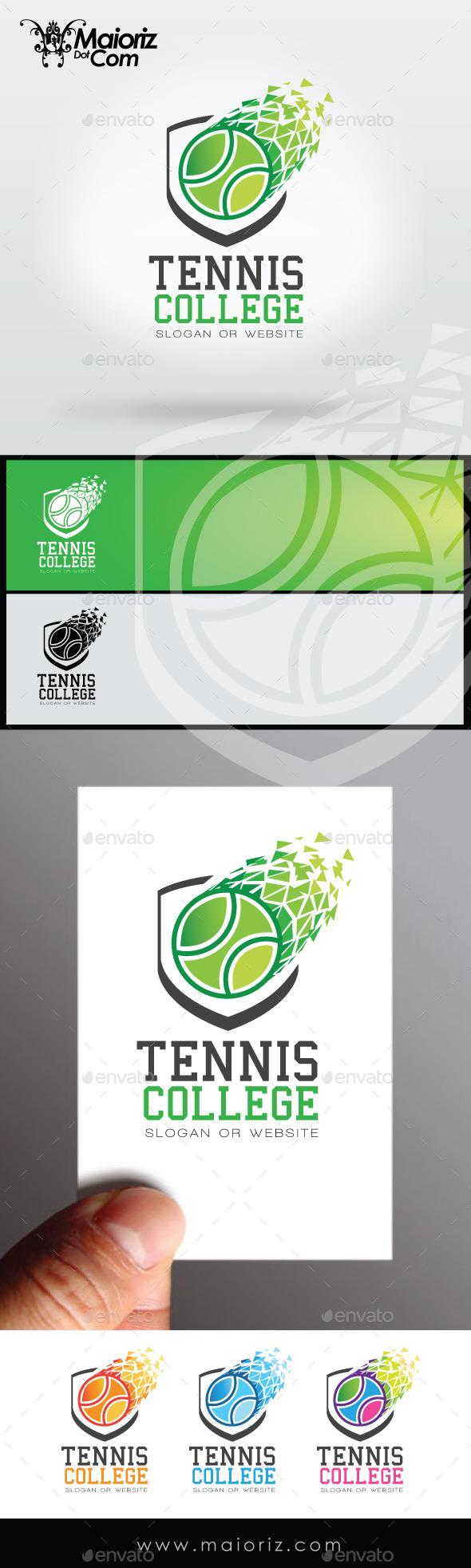 GraphicRiver Tennis College Logo 8938579