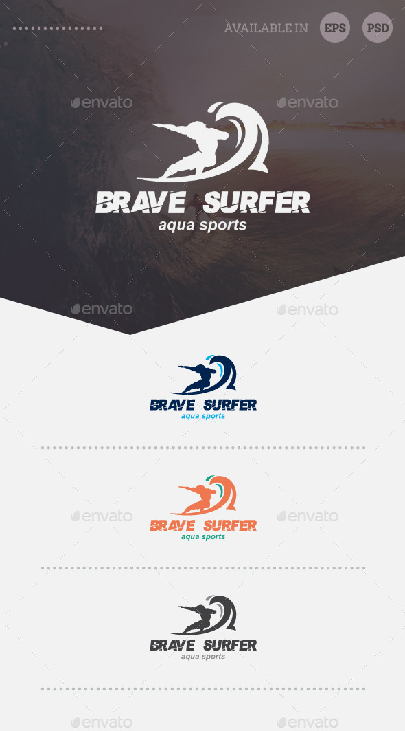 GraphicRiver Brave Surfer Logo Template 8938988