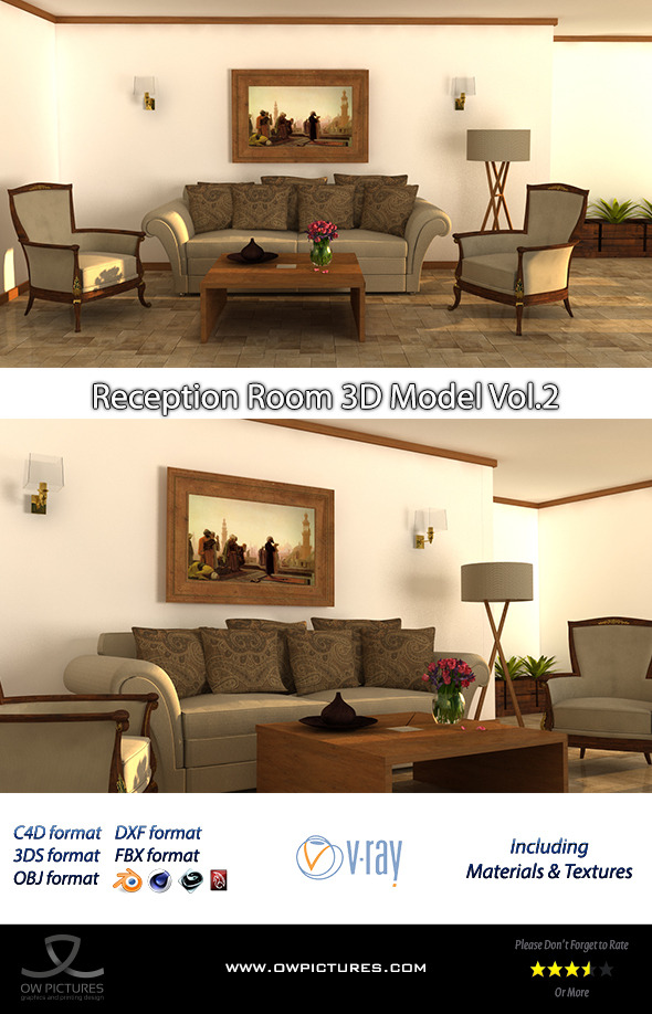 3DOcean Reception Room 3D Model Vol.2 8939244