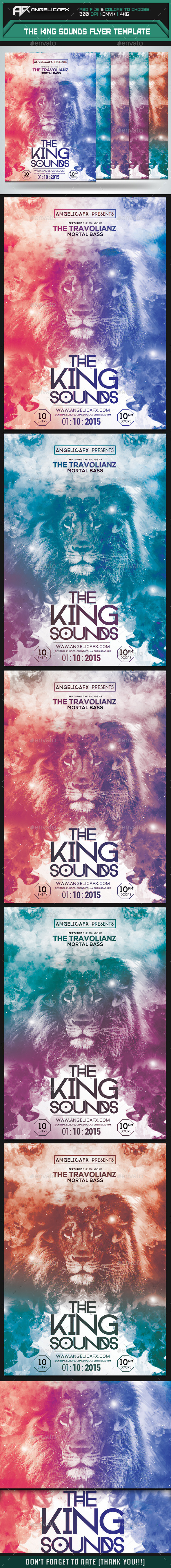 GraphicRiver The King Sounds Flyer Template 8929154