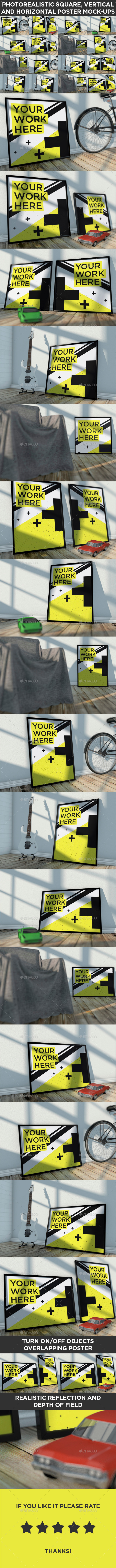 GraphicRiver 16 Realistic Poster Mock-Ups Vol.1 8939334