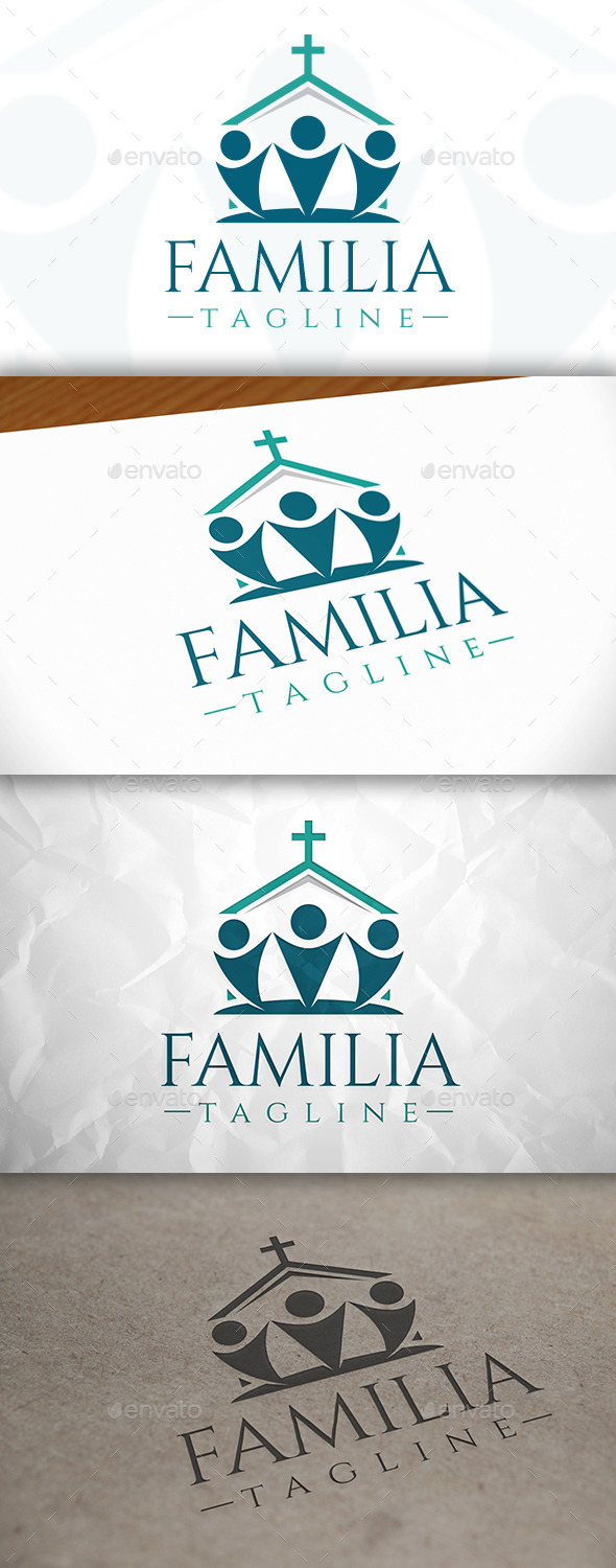 GraphicRiver Church Family Logo 8939412