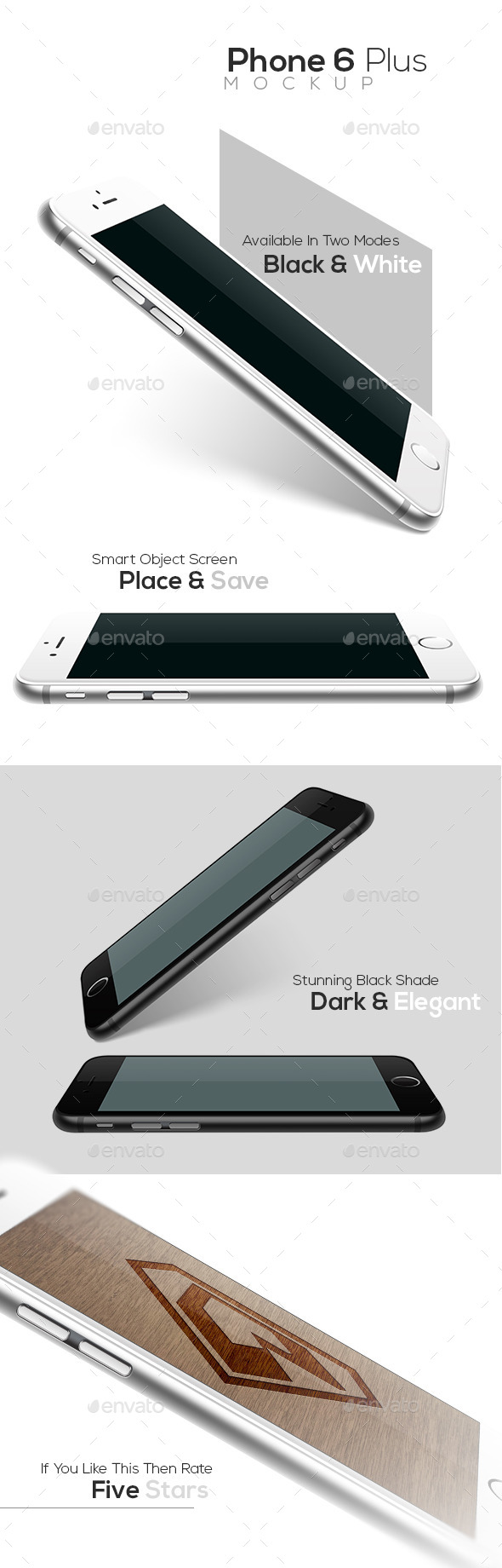 GraphicRiver Phone 6 Plus Realistic Mockup 8928889