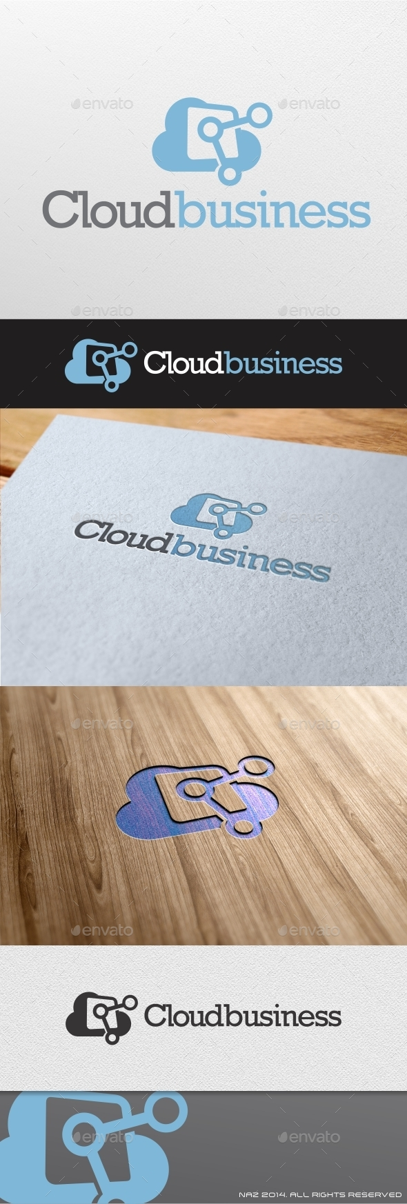 GraphicRiver Cloud Business Logo 8939441