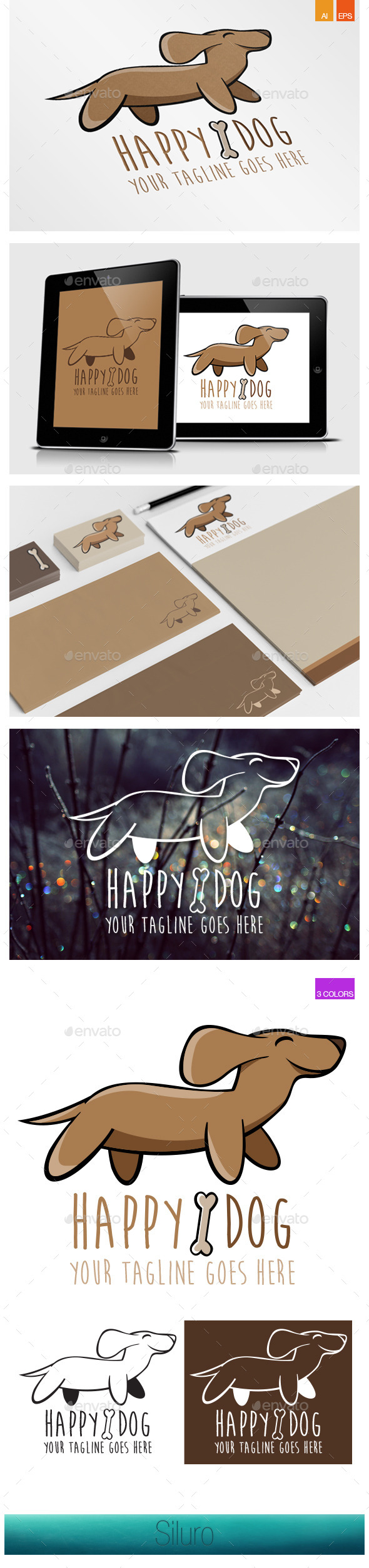 GraphicRiver Happy Dog Logo 8939484