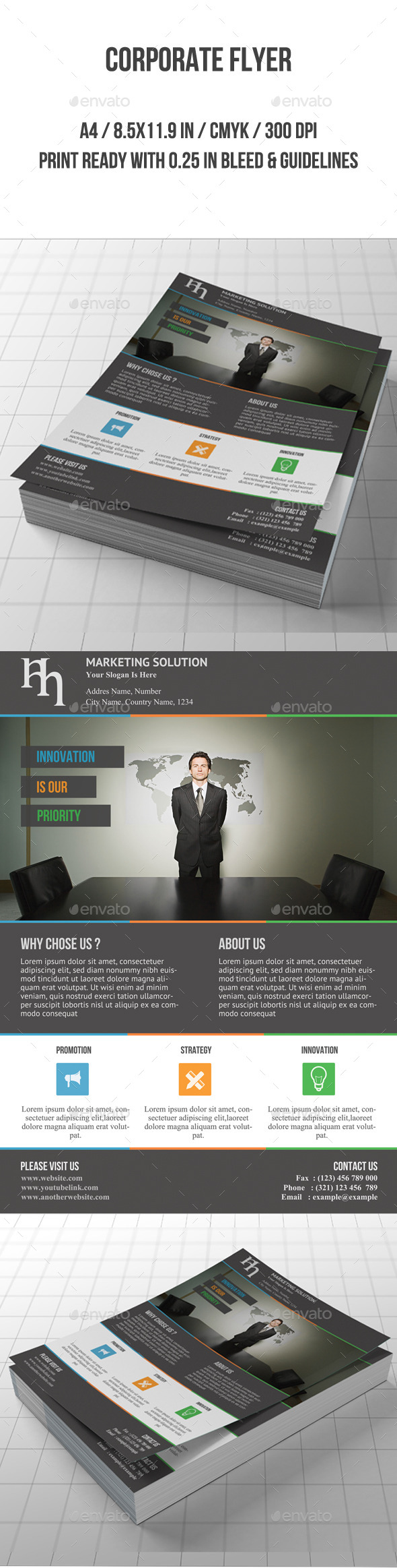 GraphicRiver Corporate Flyer 8860674