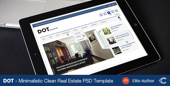 DOT. Real Estate | PSD Template