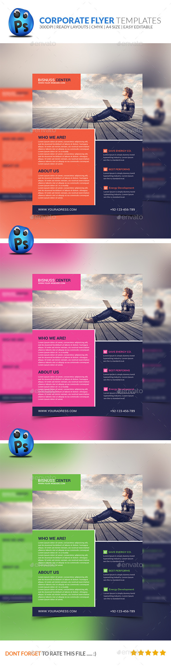 GraphicRiver Corporate Business Flyer Template 8939560