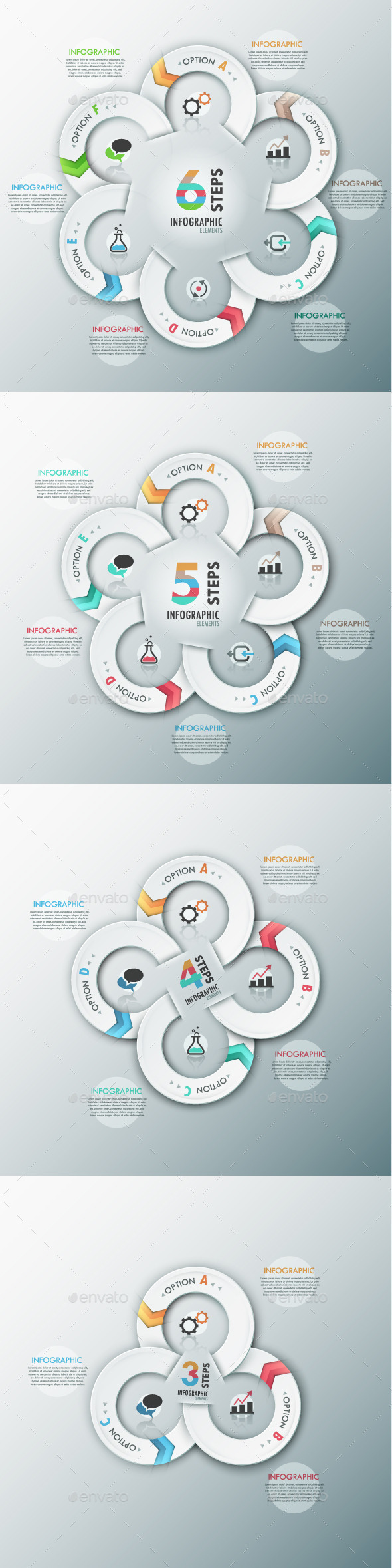 GraphicRiver Modern Infographic Options Template 4 Items 8939588