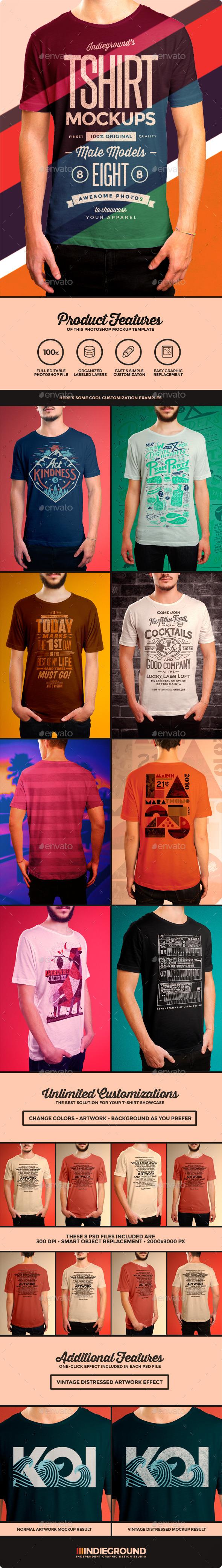 GraphicRiver Men T-Shirt Mockups 8933044
