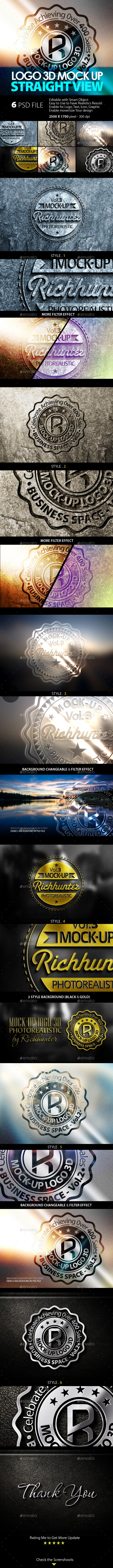 GraphicRiver Mock-Up Logo 3D Straight View Vol.3 8939938