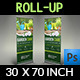 Garden Signage Roll-Up Banner Template - GraphicRiver Item for Sale