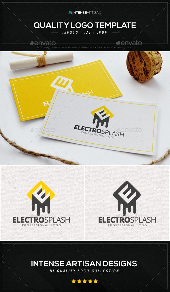 GraphicRiver Electro Splash Logo Template 8941378