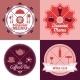 Restaurant Menu Emblem Set Color - GraphicRiver Item for Sale