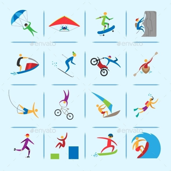 GraphicRiver Extreme Sports Icons Set 8941388