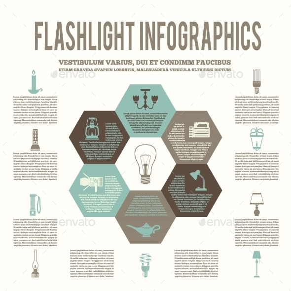 GraphicRiver Flashlight and Lamps Flat Infographic 8941397