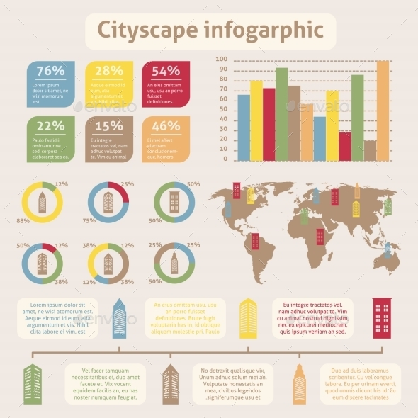 GraphicRiver Cityscape Icons Infographic 8941399