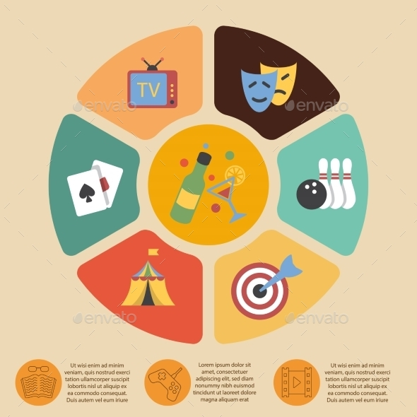 GraphicRiver Entertainments Infographics Set 8941405