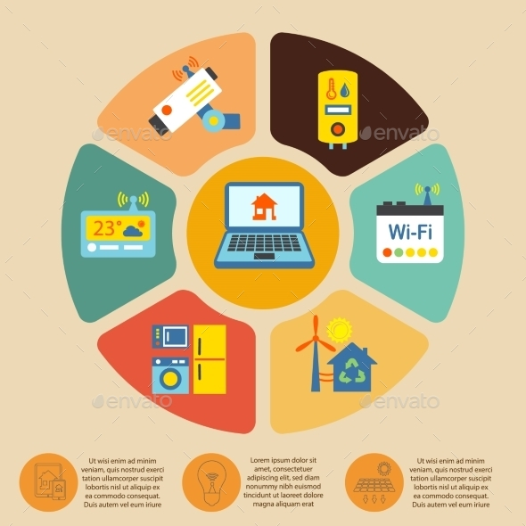 GraphicRiver Smart Home Infographics 8941406