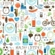 Sport, Diet and Fitness Pattern - GraphicRiver Item for Sale