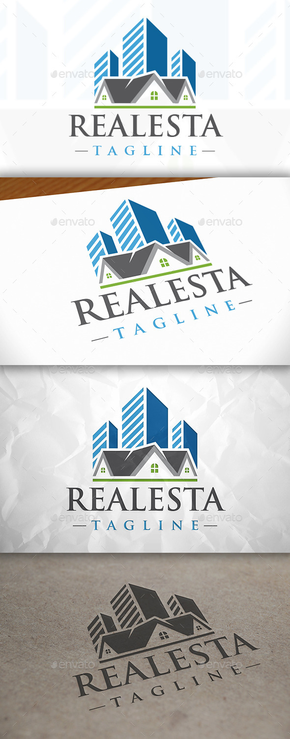 GraphicRiver City Real Estate Logo 8941417