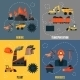 Coal Industry Flat Set - GraphicRiver Item for Sale