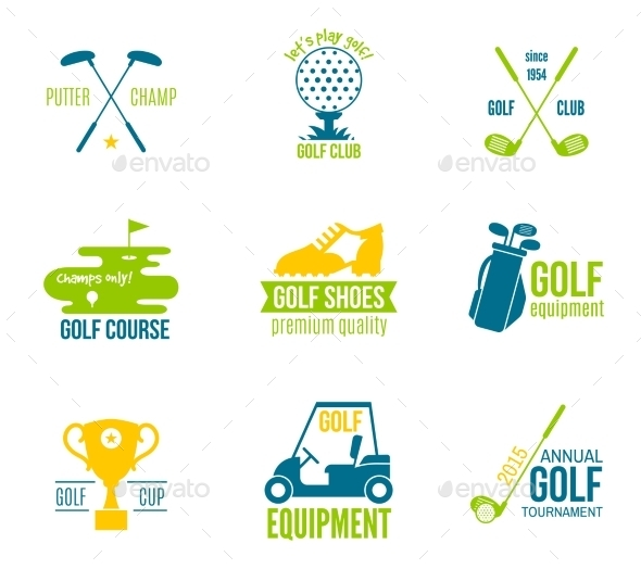 GraphicRiver Golf Label Set 8941428