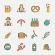 Beer Icons Set Flat Line - GraphicRiver Item for Sale